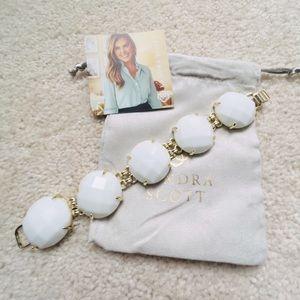 NWOT Kendra Scott White Cassie Bracelet